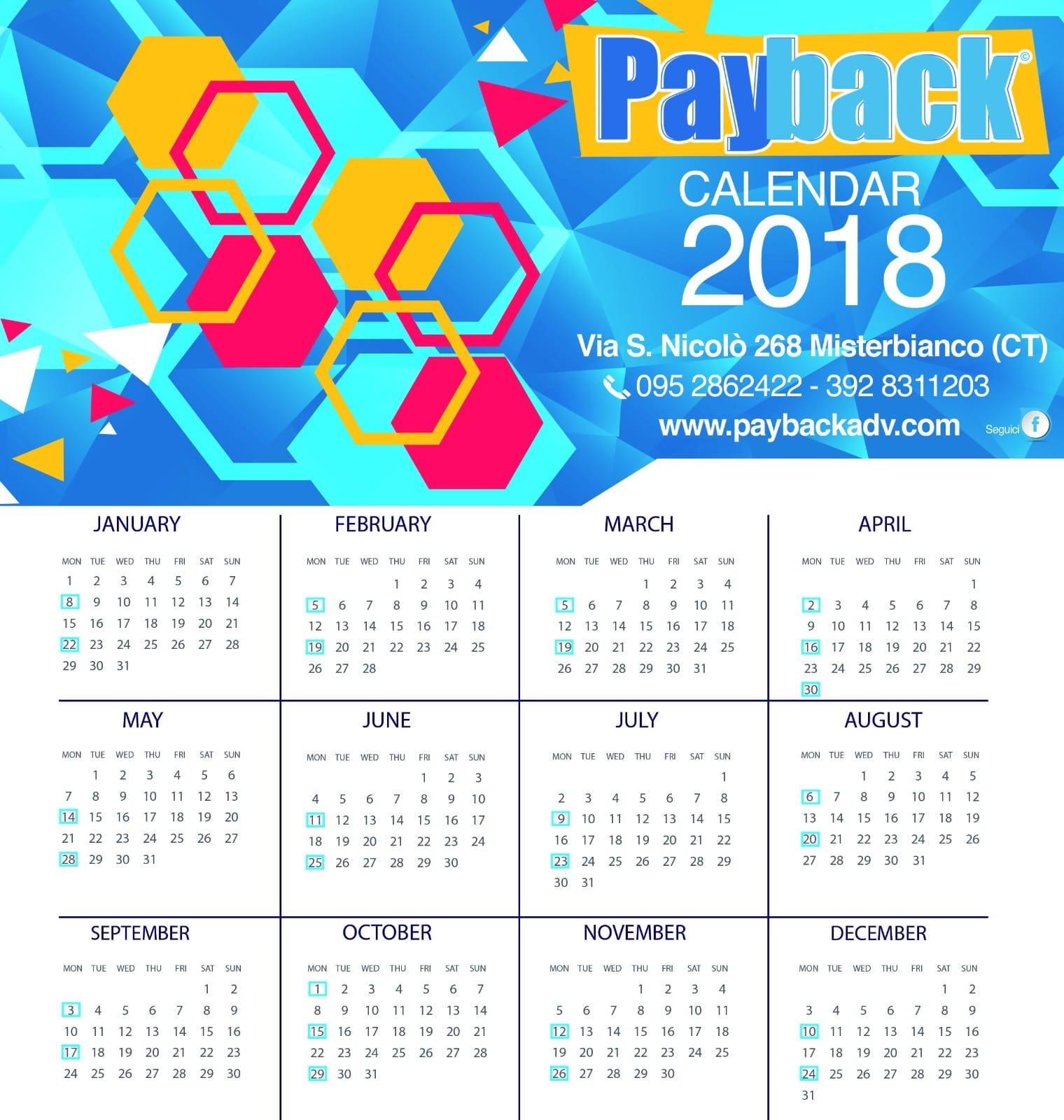 calendario cartelloni pubblicitari paybackadv 2018