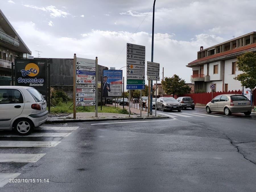 Via Antonio di San Giuliano angolo Via Bellini - Sant'Agata Li Battiati