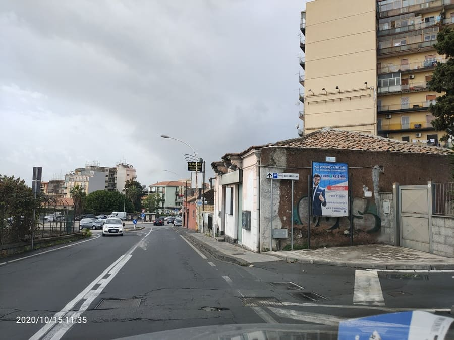 Via Barriera del Bosco direzione Due Obelischi – Sant'Agata Li Battiati