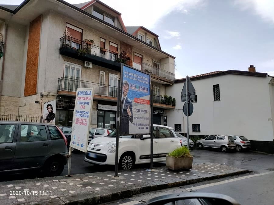 Via Umberto direzione San Giovanni La Punta – Sant'Agata Li Battiati